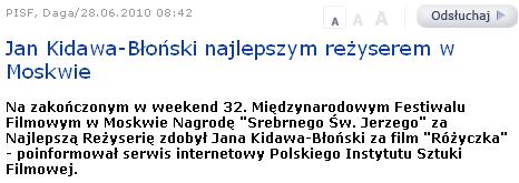 Kidawa-Błoński nagrodzony w Moskwie
