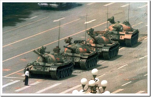 Tiananmen Square picture that was banned in china