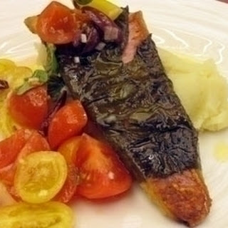 Red Mullet Wrapped In Vine Leaves