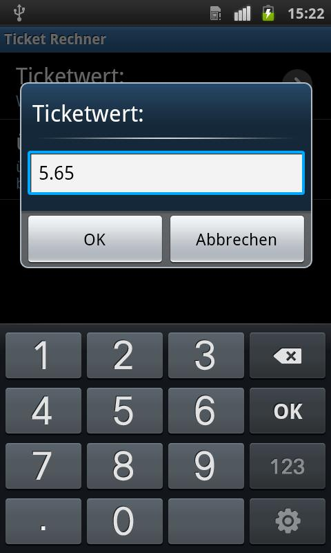 TicketCalc- screenshot