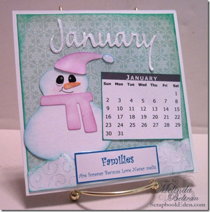 january calendar cricut