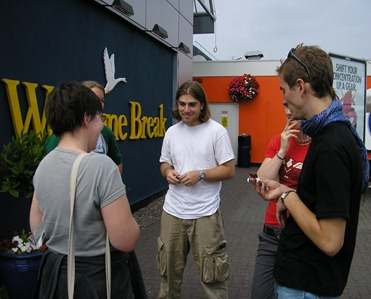Young Adult Friends at the World Gathering of Young Friends in England, 2005