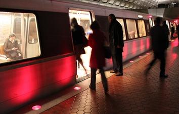 Boarding DC Metro