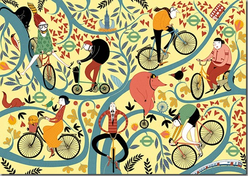 Spokes and Leaves Full by Mia Nilsson