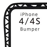 iPhone4/4S バンパー(プラスチック)ブラック 『truss』
