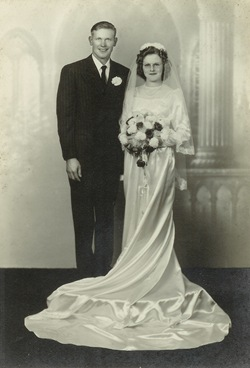 Mom and Dads formal wedding photo 1950