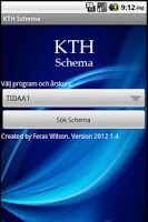 Screenshot of KTH Schema