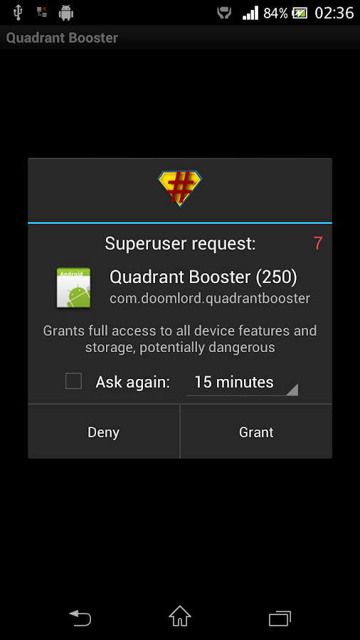 Quadrant Booster - screenshot