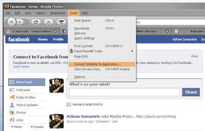Prism convert Facebook website to Application