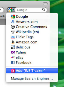 Add JNE Tracker to Firefox Search
