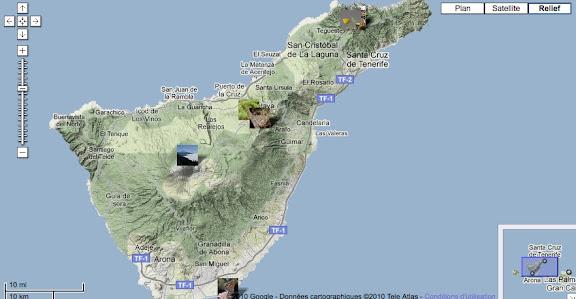 Localisation des photos à Ténérife (Îles Canaries)