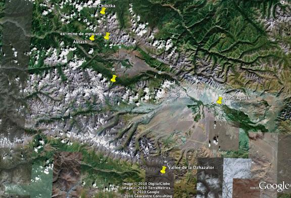 Au sud d'Aktash et de Kosh Agatch : les vallées d'Ak-Tru et de la Dzhazator dans les Monts Yuzhno-Chuiski