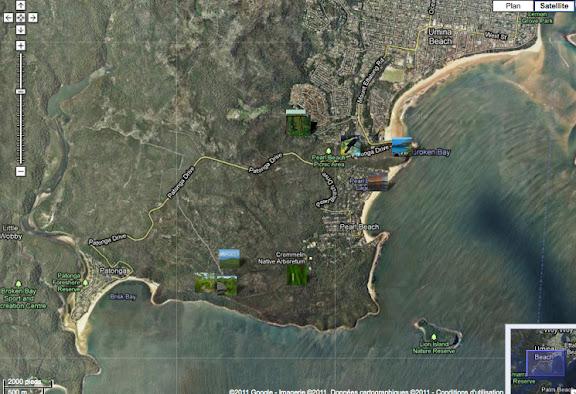 Localisation des photos autour d'Umina Beach