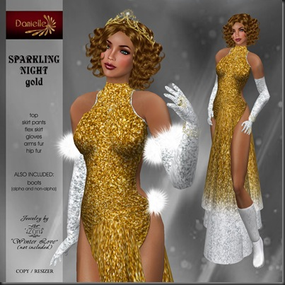 DANIELLE Sparkling Night gold'