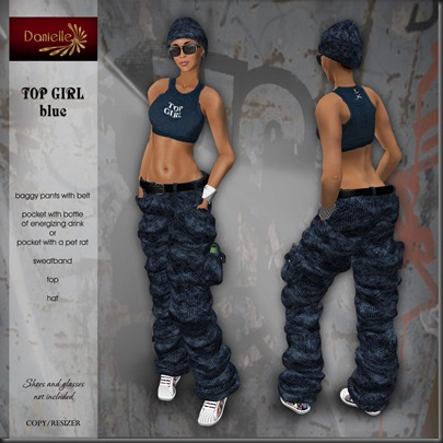 DANIELLE Top Girl - Blue'