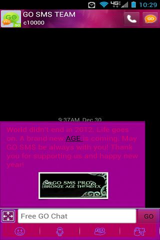 Go SMS Pro Maybe Girly
