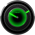 NEON GREEN Laser Clock Widget