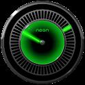 NEON GREEN Laser Clock Widget icon