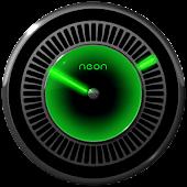NEON GREEN Laser Clock Widget