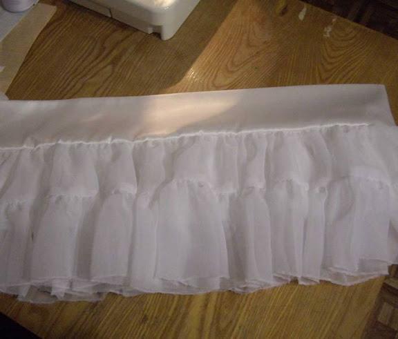 ...несложную задачку: как сшить юбку с несколькими ярусами и пышными.