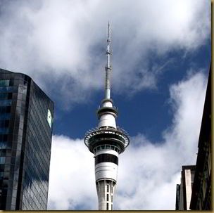 Auckland sky tower. You can jump off this.. if you're insane.