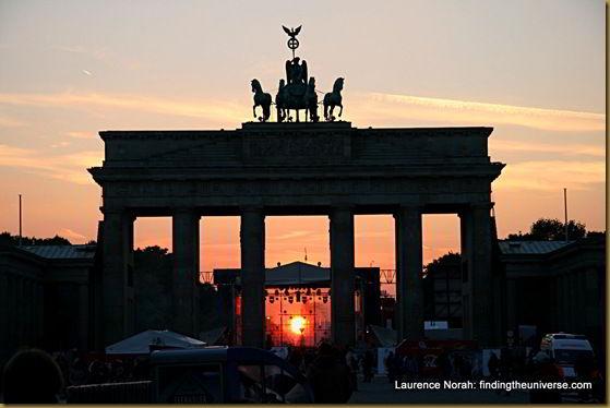 Sunset through the Brandenberg Gate - Berlin