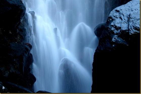 Waterfall in slow motion - Waitonga Falls close up
