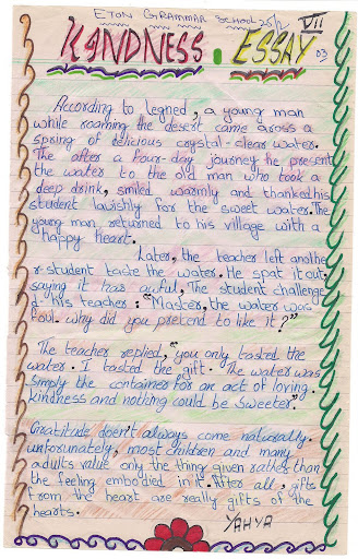 essay on kindness for class 4