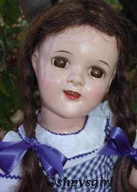 Dorothy Wizard of Oz Judy Garland doll Ideal composition 1930s