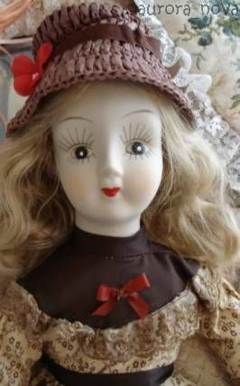 Walda porcelain china reproduction antique doll