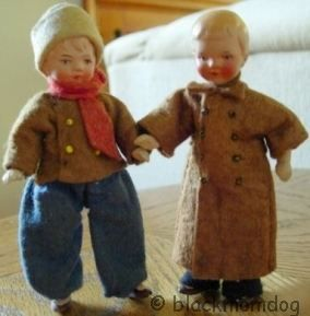 Bisque dollhouse doll Germany German 1920s 1930s