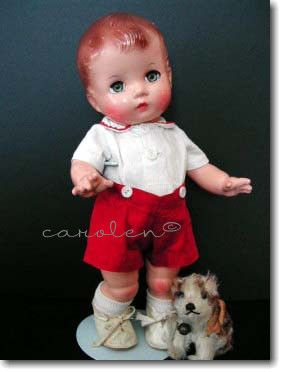 Candy Kid Effanbee doll 1940s Steiff dog Molly