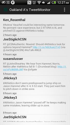 【免費運動App】Oakland A's TweetMonitor-APP點子