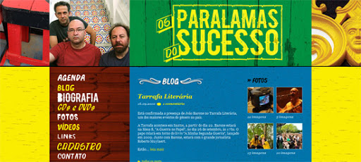 Website Paralamas do Sucesso