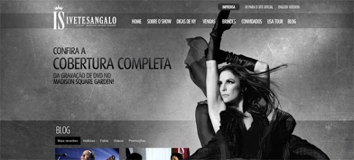 Website Ivete Sangalo