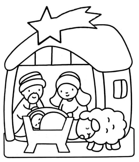 Dibujos Para Colorear Nacimiento De Jesus