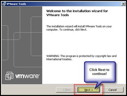Upgrading VMware Tools