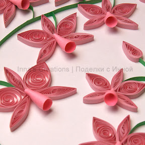 Orchid (closeup). Quilling