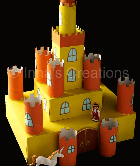 Inna S Creations Make A Cardboard Castle Using Discarded