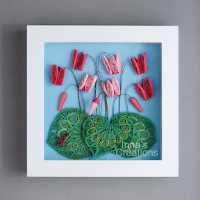 Quilled cyclamens