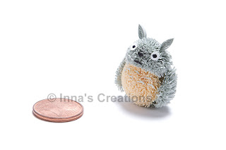Paper quilled Totoro, front view