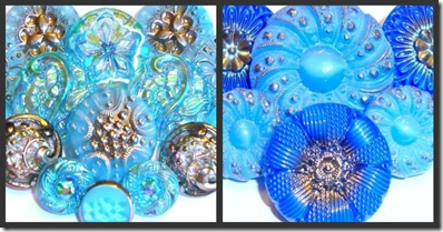 Blue collage