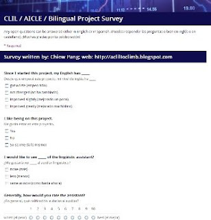 Chiew's CLIL EFL ESL Games and Activities Blog: CLIL/AICLE/Bilingual Project Survey