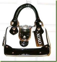 Authentic XOXO Angie White Black Handbag Purse NWTa ... 655df612faa05