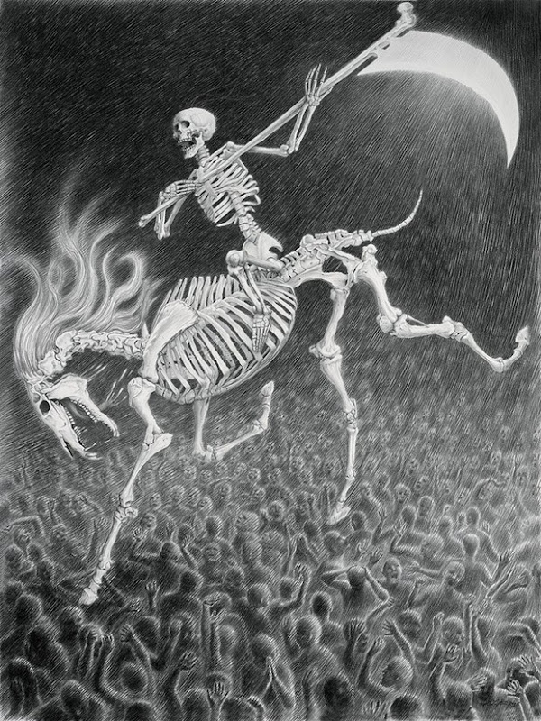 Gothic-skeleton -drawing -and-illustration