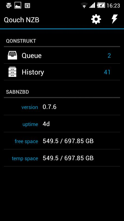 Qouch NZB- screenshot