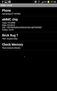 eMMC Brickbug Check – Miniaturansicht des Screenshots