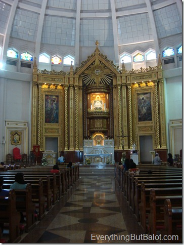 Alter area of Antipolo Cathedral