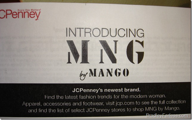MNG (by Mango) is now available at JCPenney