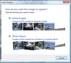 image thumbnail in windows live writer